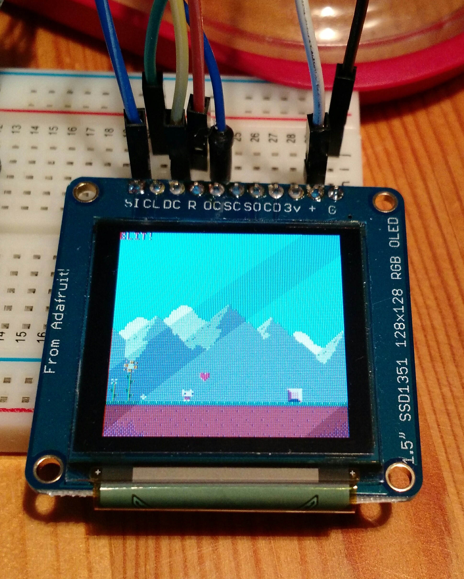 Raspberry Display Driver Ssd1351 Wiringpi Spi Functions I Got An Idea The Other Day To Write A In Pico8 Using Gpio Pins And Here It Is Cart Replaces Flip Function With Custom One